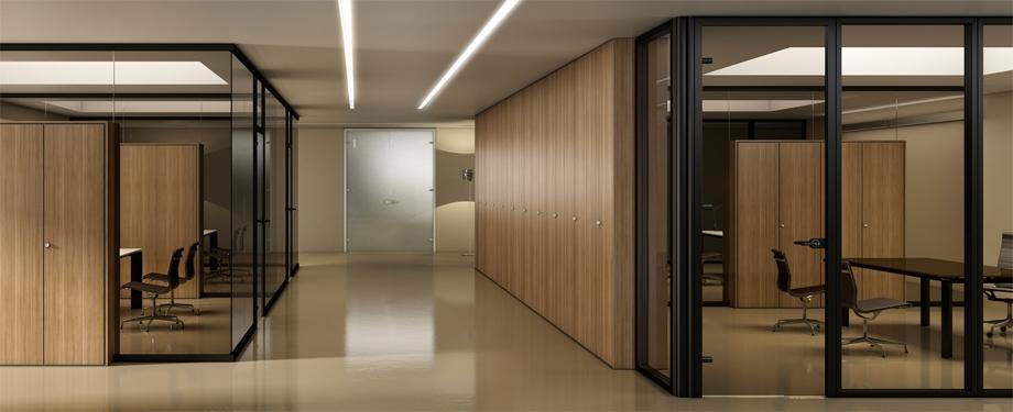 Pareti divisorie gamma ufficio srl for Divisori mobili per ufficio