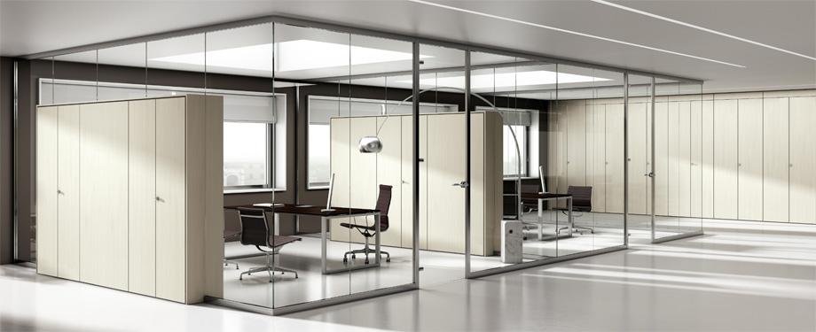 Pareti divisorie vetro ufficio – parquet per interni